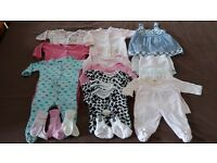 0-3 Months Bundle of Baby Girls Clothes, Disney, M&Co, Mini Mode,Mothercare - Plus More