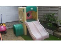 Little Tikes double slide and tunnel climber