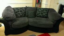 Maria 3+2+1 snuggle sofa suite with large foot stool