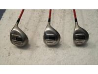 Golf Clubs - Set of Wilson Firestick Woods and Irons, plus a 2 ball style Putter.