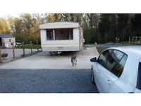 static caravan to rent in a nice secluded area would parking space""
