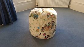 Large Beanbag or Bean Bag with Ducks & Mickeys,SizeH51cmW51cm,Good condition,Contact me asap,Cheap£6