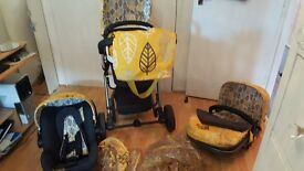 Cosatto Giggle 3 in 1 fully loaded pram set