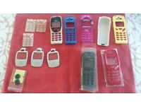 Assorted covers for Nokia mobile phone.