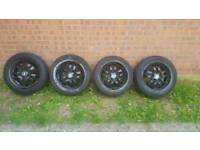 """4 16"""" Bmw 3 3eries Alloy Wheels plus tyres in good condition"""