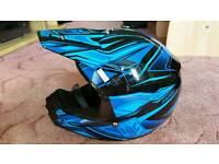 Motocross, HJC blue quads bike kids helmet 53 54cm