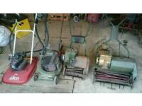 Selection of mowers