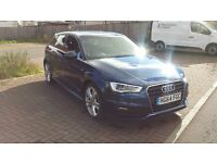 2015 Audi A3 1.6 TDI S Line Sportback 5dr Diesel Manual , £0 ROAD TAX