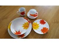 BRAND NEW! Waterside fine China 24 piece dinner set. Plates bowls mug side plate and coffee cup