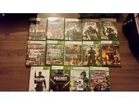 White X-Box 360 500GB with a controller and 15 games