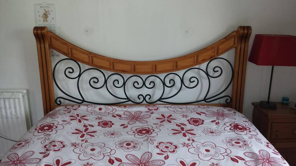 King size bed frame in castlemilk glasgow gumtree for Beds glasgow