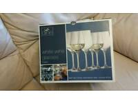Lead free crystal wine glasses x 6 - great Christmas gift
