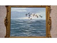 """oil painting """"brents heading out to sea"""" Christopher Watson"""