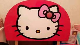 Hello Kitty single headboard with night light