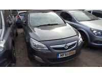 Vauxhall Astra J Front Bumper in Grey Ring for more info 2010 2011 2012 2013 BREAKING