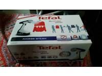 Tefal DR8085 Access Steam Garment Steamer - White and Blue