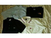 mens medium lacost , pretty green , Fred Perry smart shirts JOB LOT