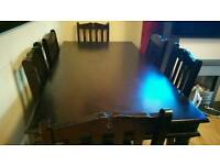 Marakesh Brown Oak Dining table with 6 chairs