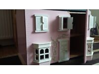 Dollhouse and cot for sale FREE