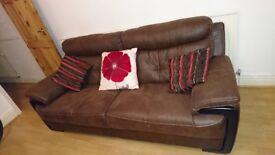 Large 3 seater fabric sofa