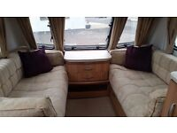 Lunar Clubman SB Touring Caravan (2011). Single Fixed Beds and End Washroom