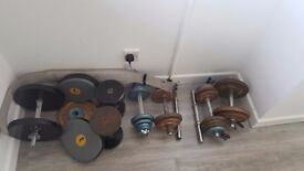 Metal weights and dumbells