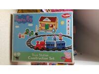 New (unopened) Peppa pig – train station construction set