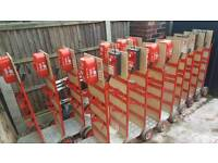 Mobile Fire Extinguisher Compact Double trolley/ stanf