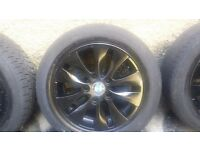 16 inch bmw alloys with tyres 5 stud 5×120