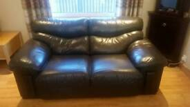 Leather couch 2 & 3 seater