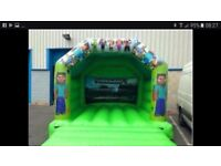 Commercial Bouncy castle 12 x 15ft and mascot with pegs mat blower and sandbags ready to hire out