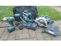 Erbauer cordless power tools set
