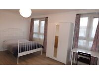 Large Newly Refurbished Double Room / Bow Area, ZONE 2 / All Bills Inc & Furnished / Avail NOW !!