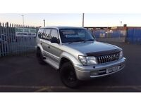 2001 TOYOTA LAND CRUISER COLORADO 3.0TD AUTO 7 SEATER FULL MOT PX WELCOME