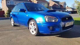 4 x 17 Inch Subaru Impreza WRX 2003 Blobeye White Wheels & New Tyres (Recently Refurbished)