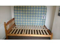 Wooden 3/4 bed