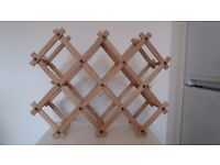 Wine/ Bottle Rack Wooden Foldable