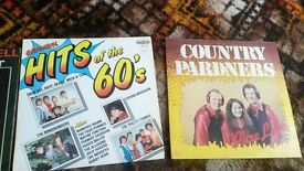 2 60s vinyl records Singed Country Pardners pure love & Original Hits of the 60s