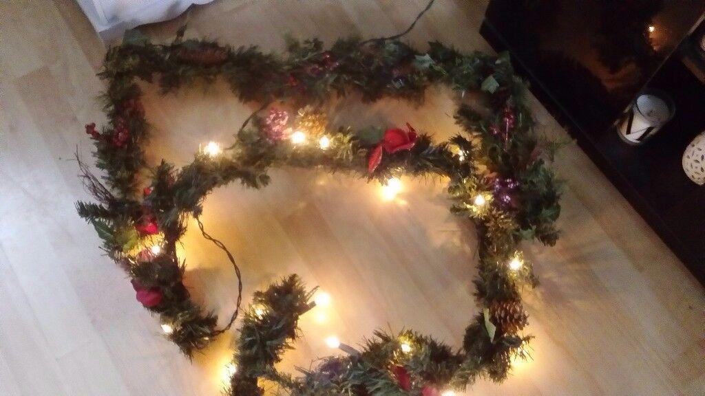 Job lot of christmas items inc tree garland etc