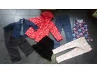 13 items Girls clothes bundle jacket, jeans,tops,skirt