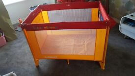 Travel cot & mattress