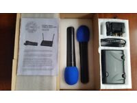 Prosound Fixed Frequency Twin VHF Wireless Microphone