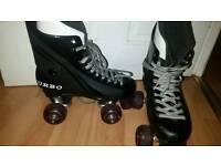 Purple turbo roller skates size 5