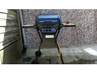 Gas Barbeque dual burners prezo type ignition on wheels Calor gas or butane