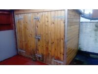 WOODEN SHED JOINER BUILT IN THICK TONGUE AND GROOVE TIMBER motorbike, office, sauna