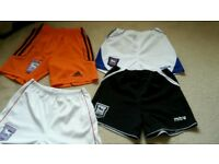 Ipswich Town Shorts Age 4 -5 Generous in size!