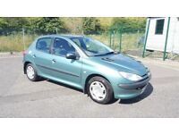 2001 Peugeot 206 LX 1.3 Petrol 5 Door 1 Year MOT 63000 Miles Only Good Condition...