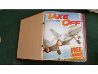 """Take off"" airplane magazines"