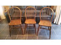 Oak Windsor Chairs x3