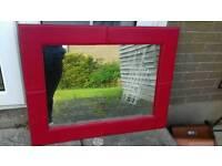 Heavy red mirror